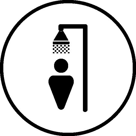 ducha y vestuarios incluidos