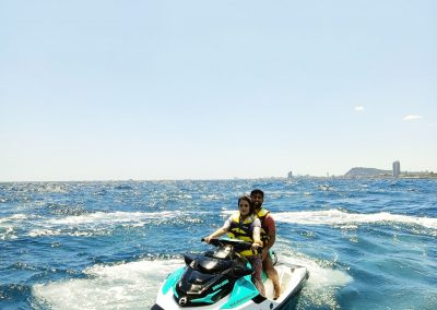 Día de promocion de moto de agua